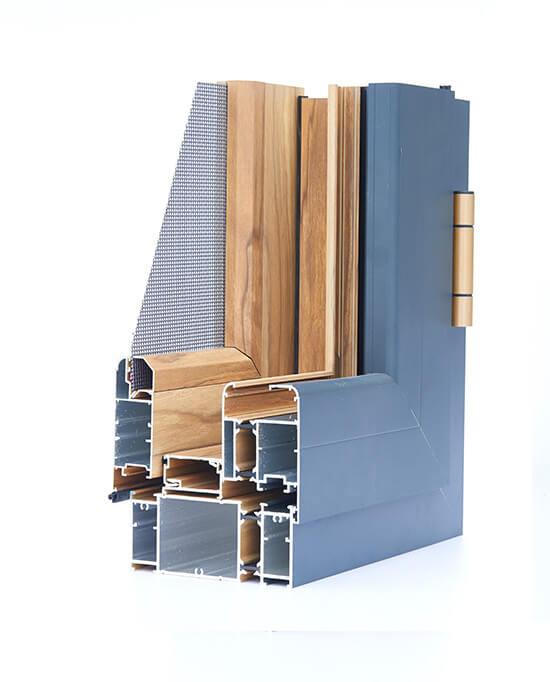 京美120断桥窗纱一体系列