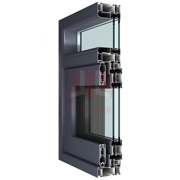 京美铝业108断桥窗纱一体型材