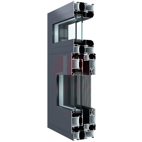 京美铝业88断桥窗纱一体型材