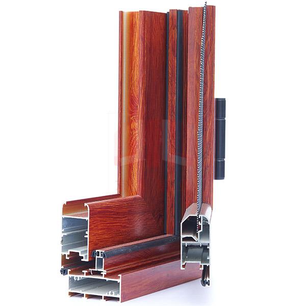 京美铝业65非断桥窗纱一体型材